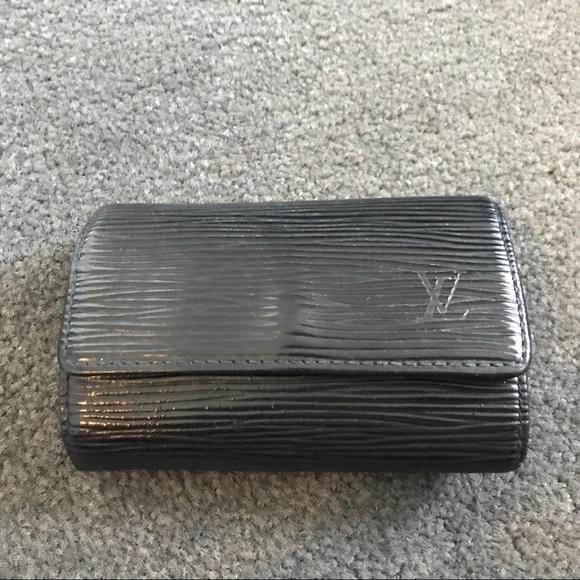ff659d1d Louis Vuitton Black Epi Leather 6 Key Holder